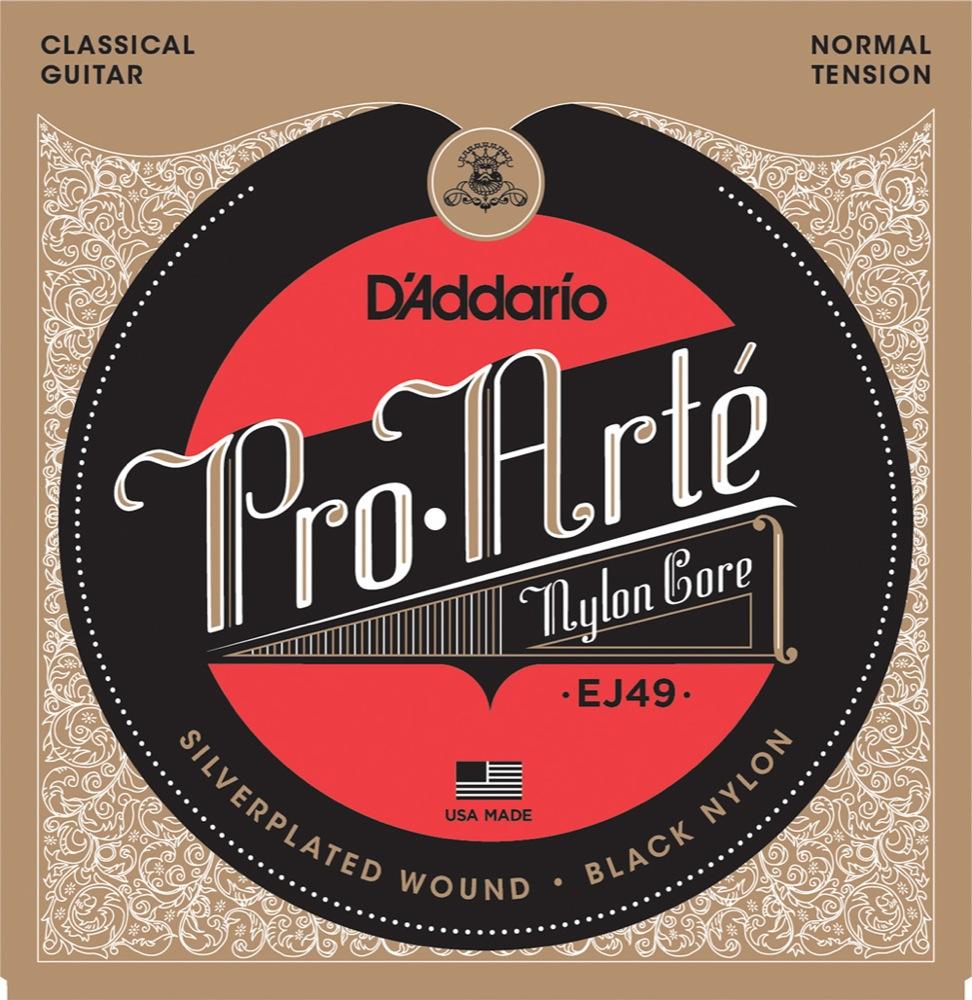 <title>ダダリオ プロアルテ クラシックギター弦 D'Addario 上質 EJ49 Silver Black Normal クラシック弦</title>