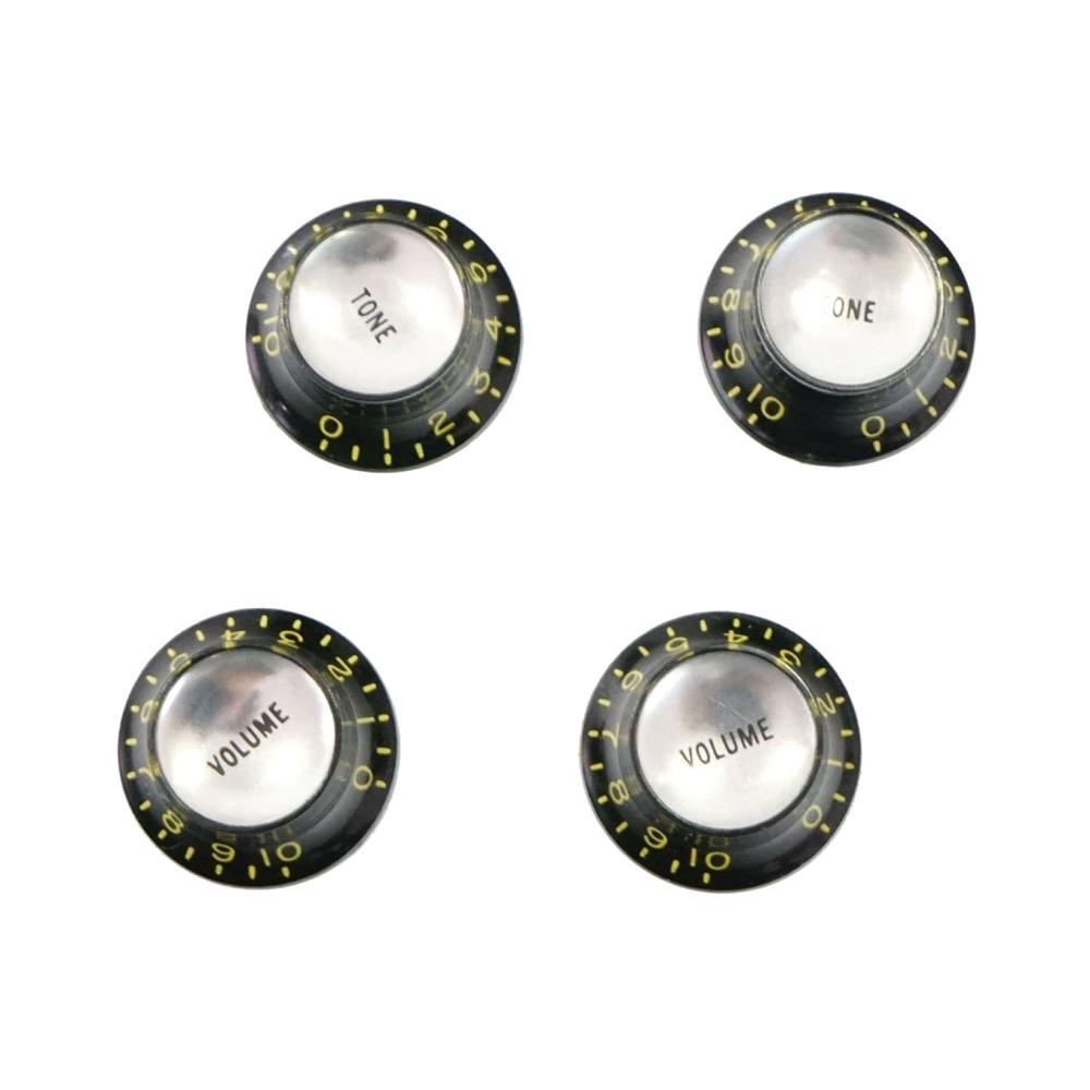 Montreux Reflector knob set Black (4) Time Machine Collection No.1038