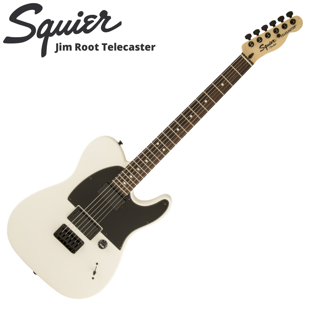 Squier Jim Root Telecaster Flat White エレキギター