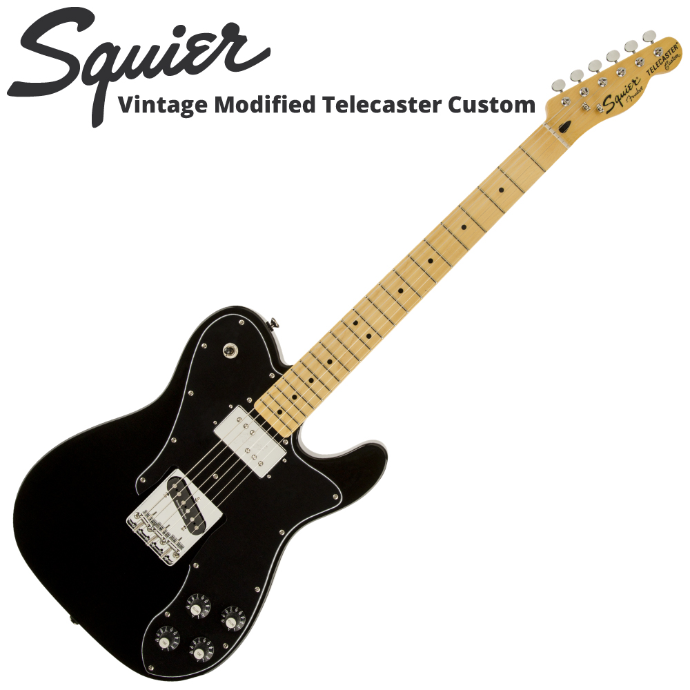 Squier Vintage Modified Telecaster Custom BLK エレキギター