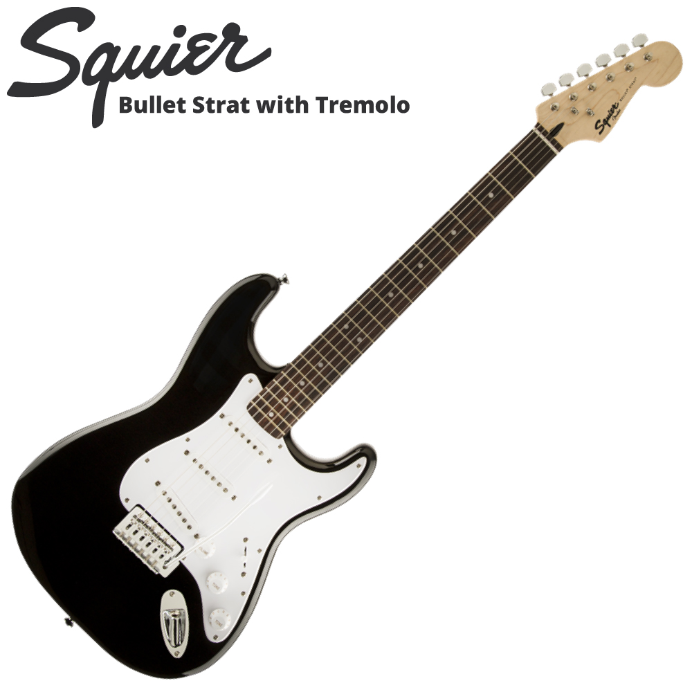 Squier Bullet Strat with Tremolo BLK エレキギター
