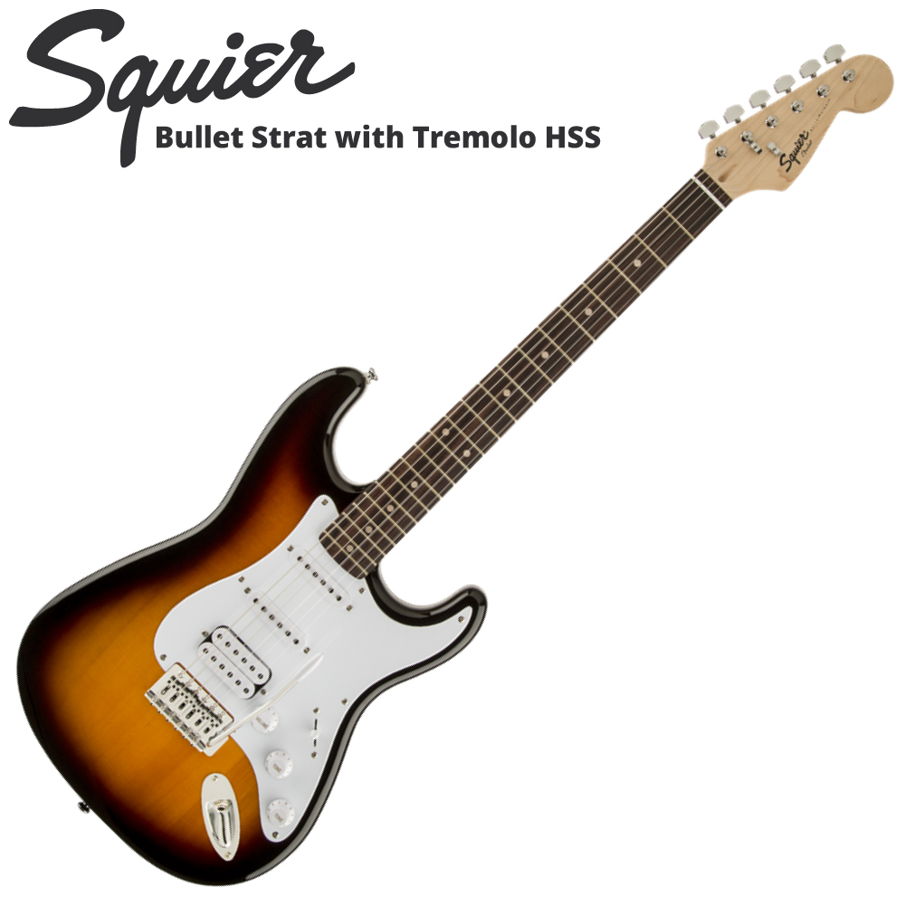 Squier Bullet Strat with Tremolo HSS BSB エレキギター