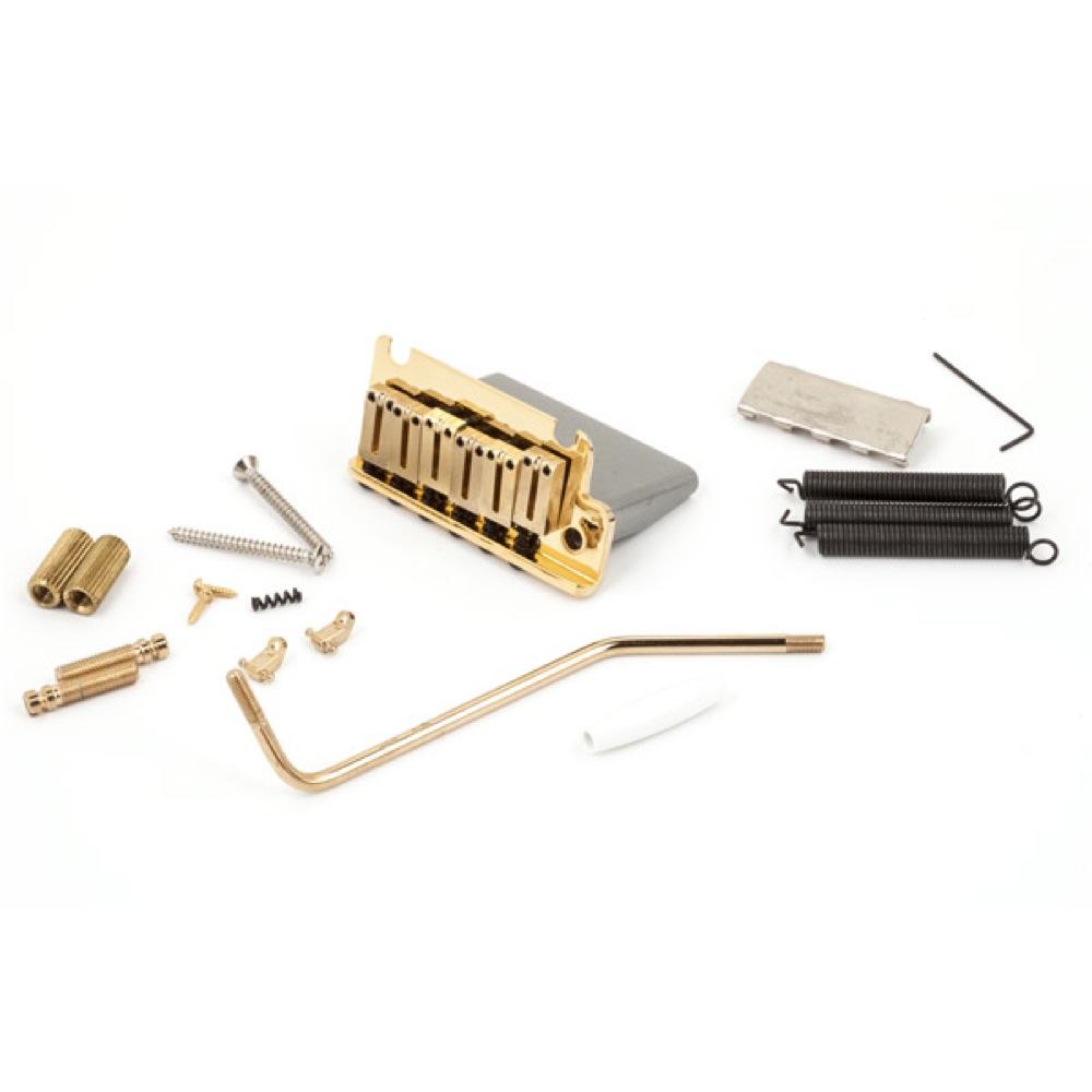 Fender American Series Stratocaster Tremolo Bridge Assemblies Gold ギター用ブリッジ