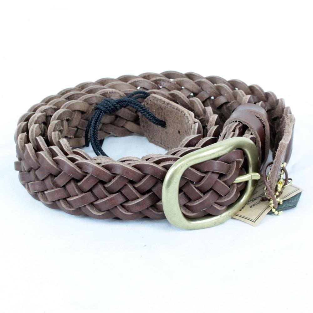 KAMINARI K-GLS02DBR Braided Leather Strap