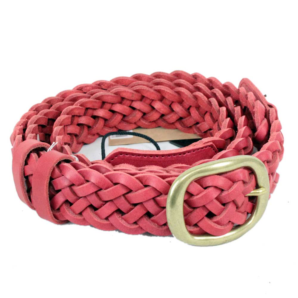 KAMINARI K-GLS02RD Braided Leather Strap