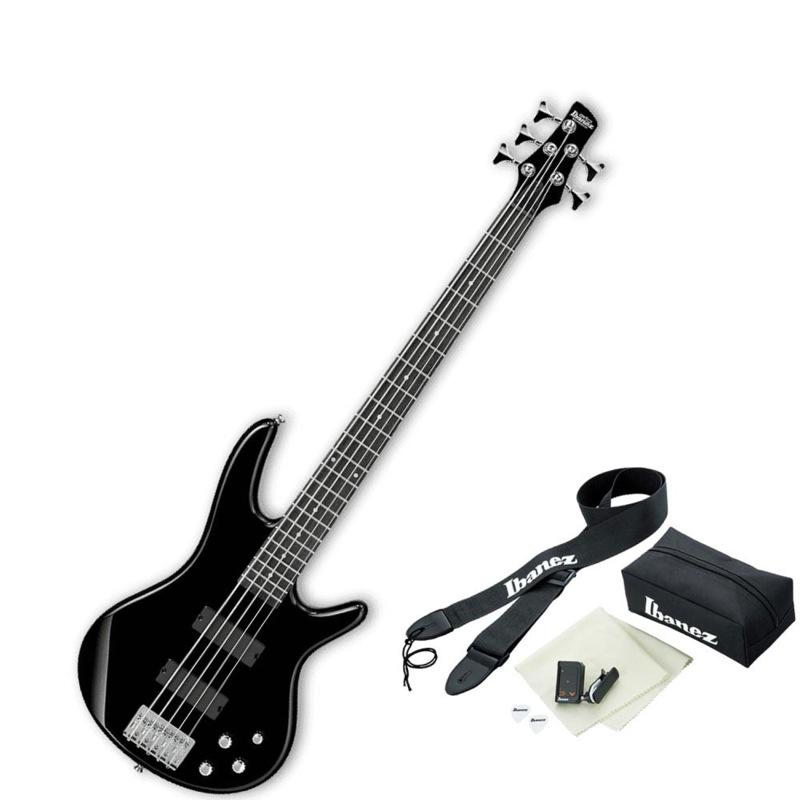 IBANEZ GSR205 BK アクセサリーセット付き 5弦エレキベース