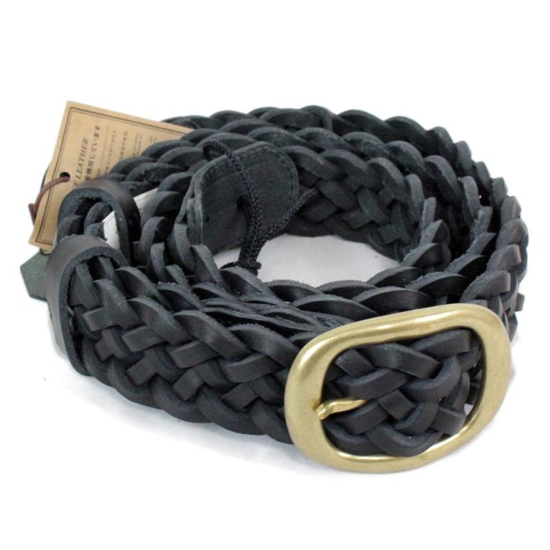 KAMINARI K-GLS02BK Braided Leather Strap