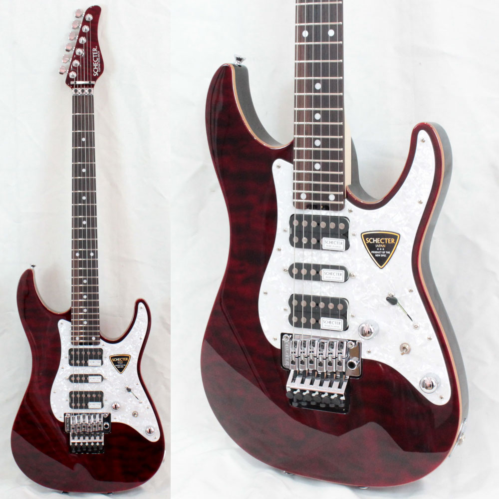 SCHECTER SD-2-24-AL RED/R エレキギター