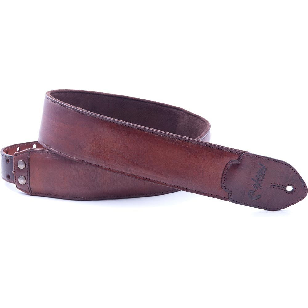 Righton! STRAPS LEATHER CRAFT Series VINTAGE Brown ギターストラップ