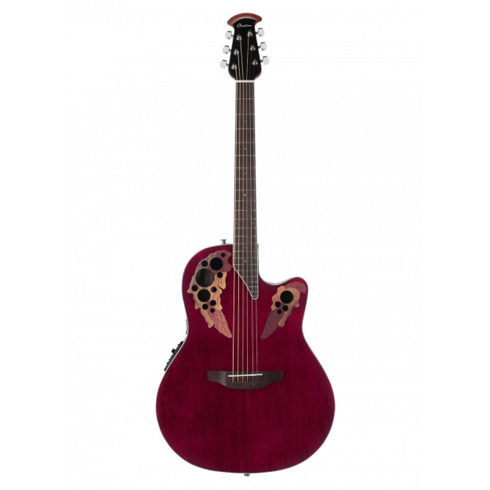 OVATION Celebrity Elite Super Shallow Body CE48 RR Ruby Red エレクトリックアコースティックギター