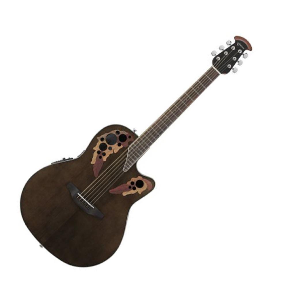 OVATION Celebrity Elite Super Shallow Body CE48 T5 Trans Black エレクトリックアコースティックギター