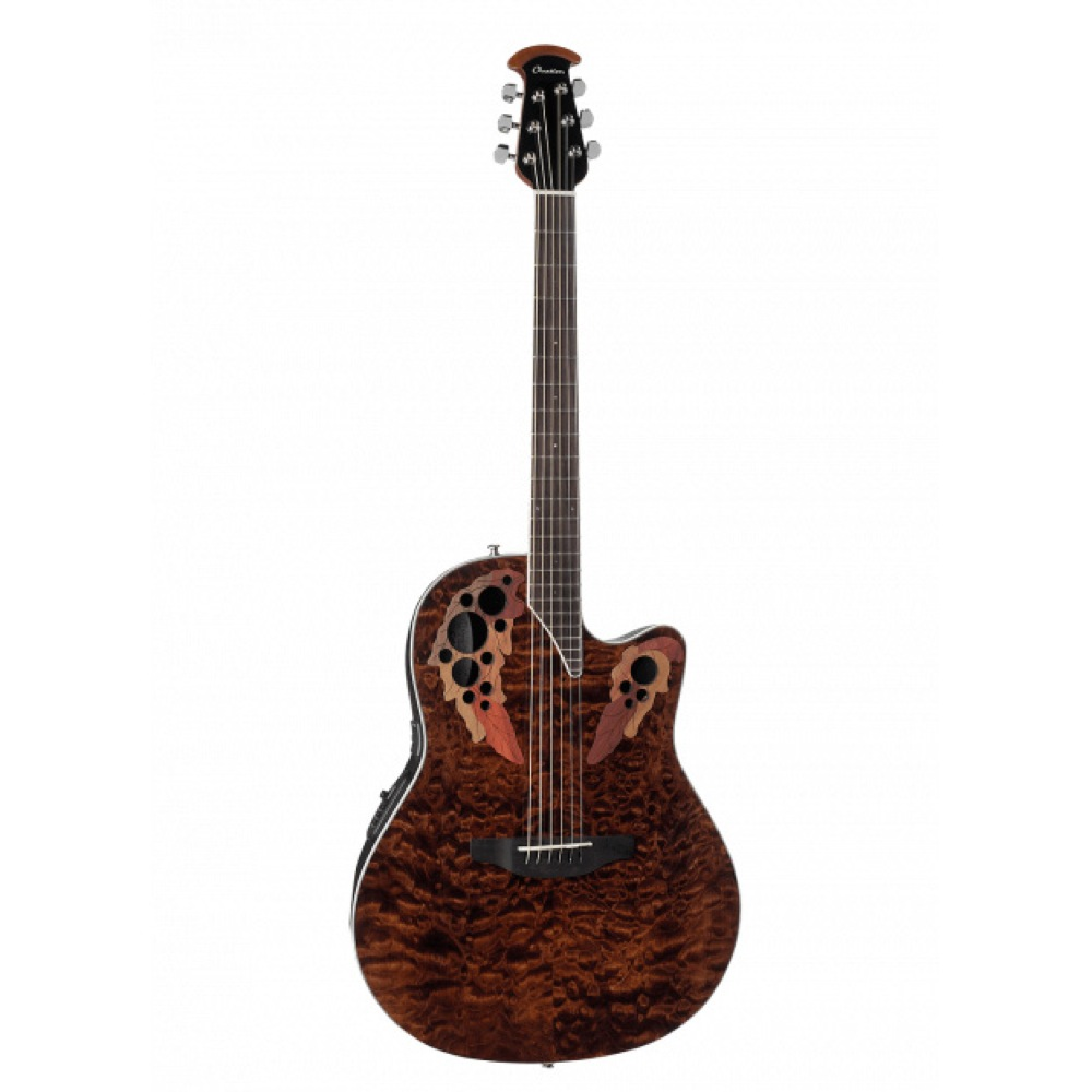 OVATION Celebrity Elite Plus Super Shallow Body CE48P TGE Tiger Eye エレクトリックアコースティックギター