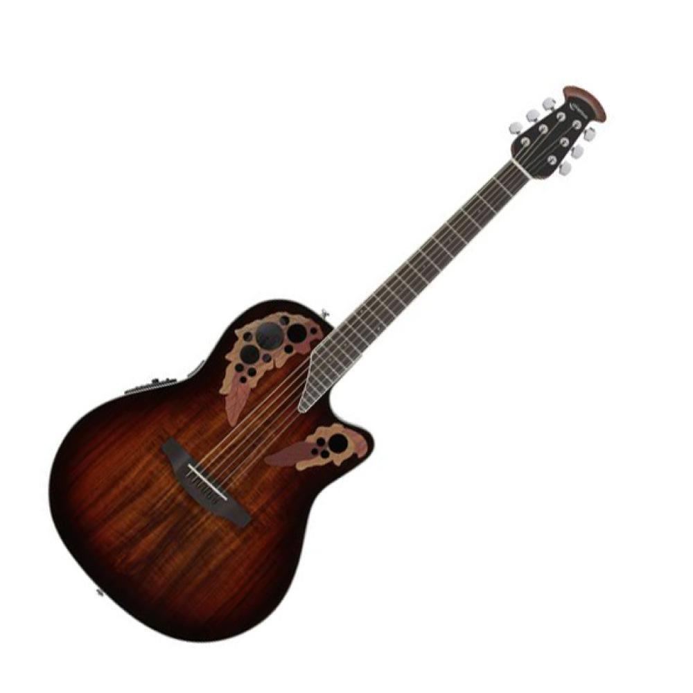 OVATION Celebrity Elite Plus Super Shallow Body CE48P KOAB Koa Burst エレクトリックアコースティックギター