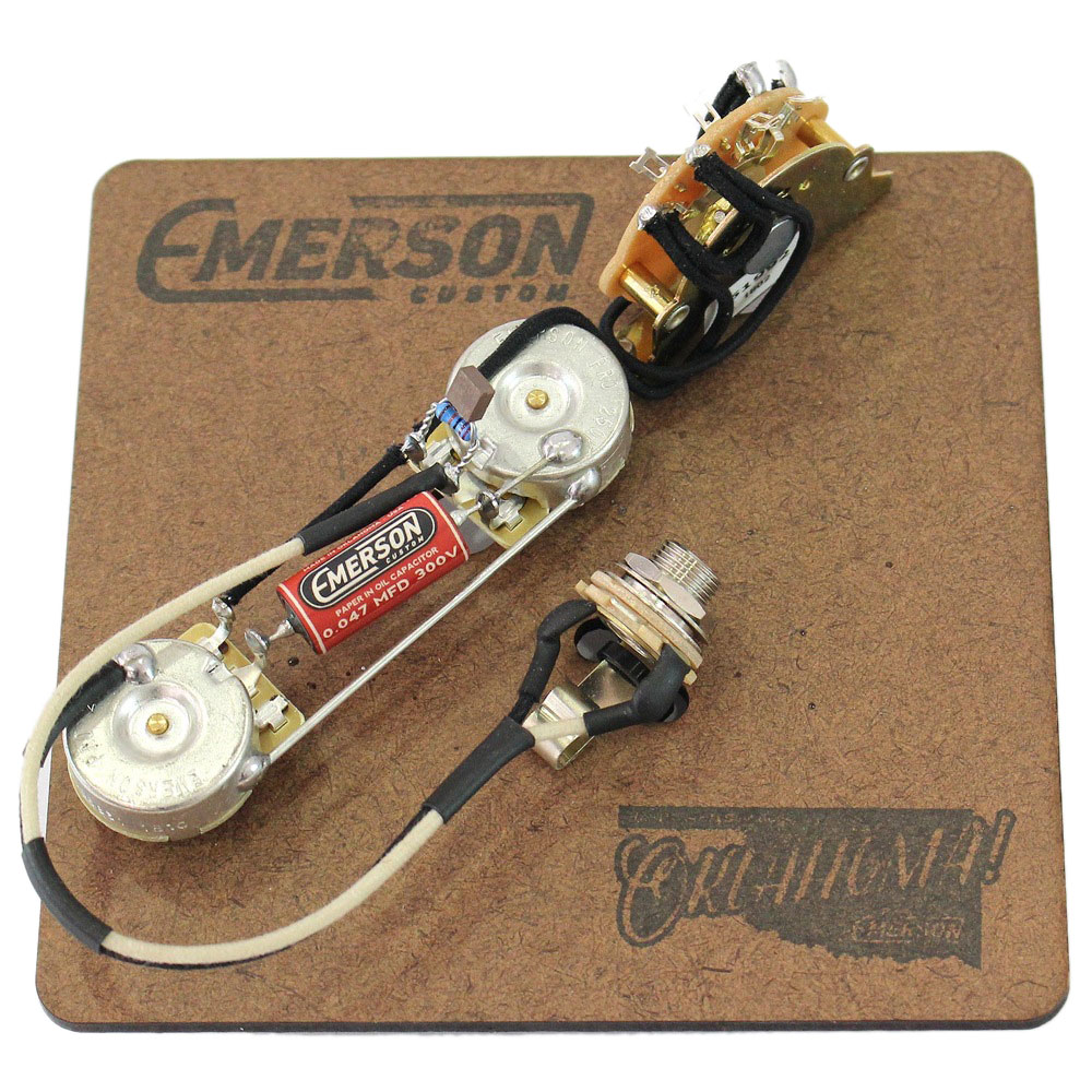 Emerson Custom T3-250K 3-WAY TELECASTER PREWIRED KIT 250K 配線済サーキット