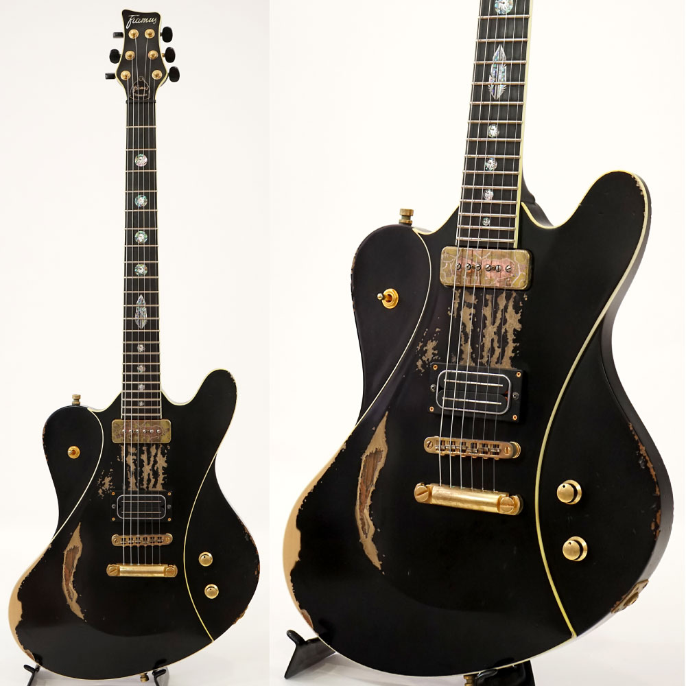 Framus Custom Shop series Idolmaker Stevie Salas Signature Heavy Relic Black HP GD 本人直筆サイン入り