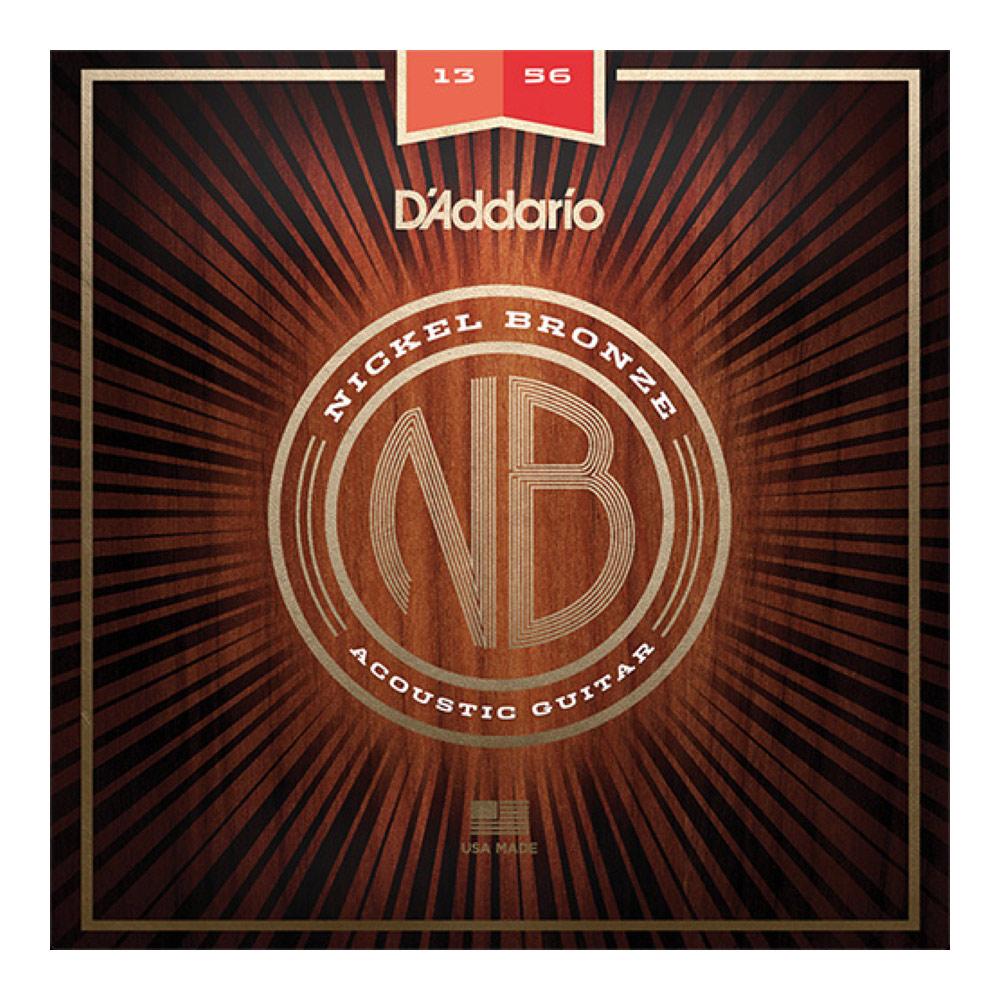 ダダリオ ニッケルブロンズ ミディアムゲージ 大好評です 配送員設置送料無料 13-56 D'Addario NB1356 Bronze Medium Nickel アコースティックギター弦 Wound