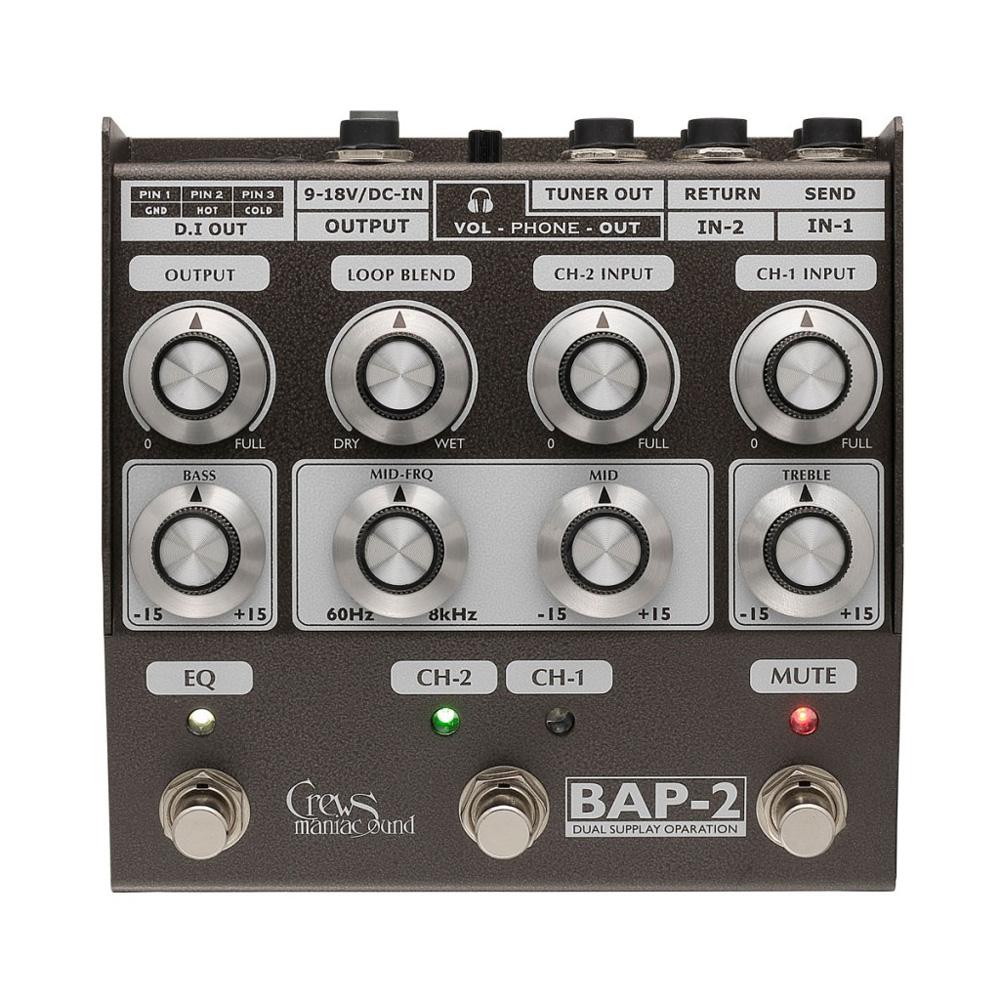 Crews Maniac Sound BAP-2 Bass Foot Preamp ベースプリアンプ