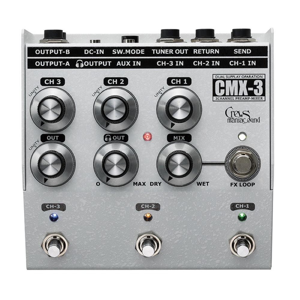 Crews Maniac Sound CMX-3 3 CH FOOT MIXER 3 채널 풋 믹서