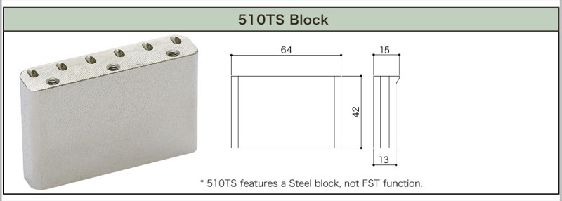 GOTOH 510 TS-FE1 BK기타용 트레몰로 유닛 블랙