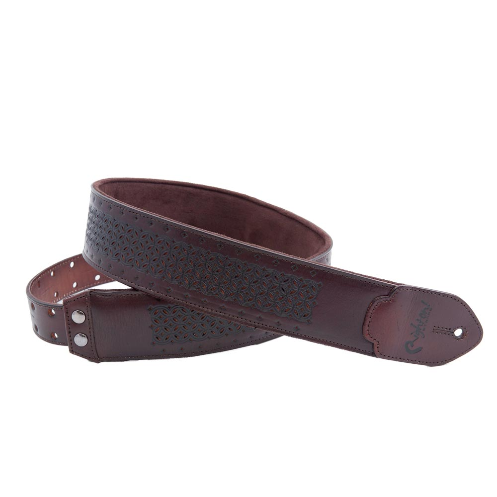 Righton! STRAPS LEATHERCRAFT Series GRANADA Brown ギターストラップ