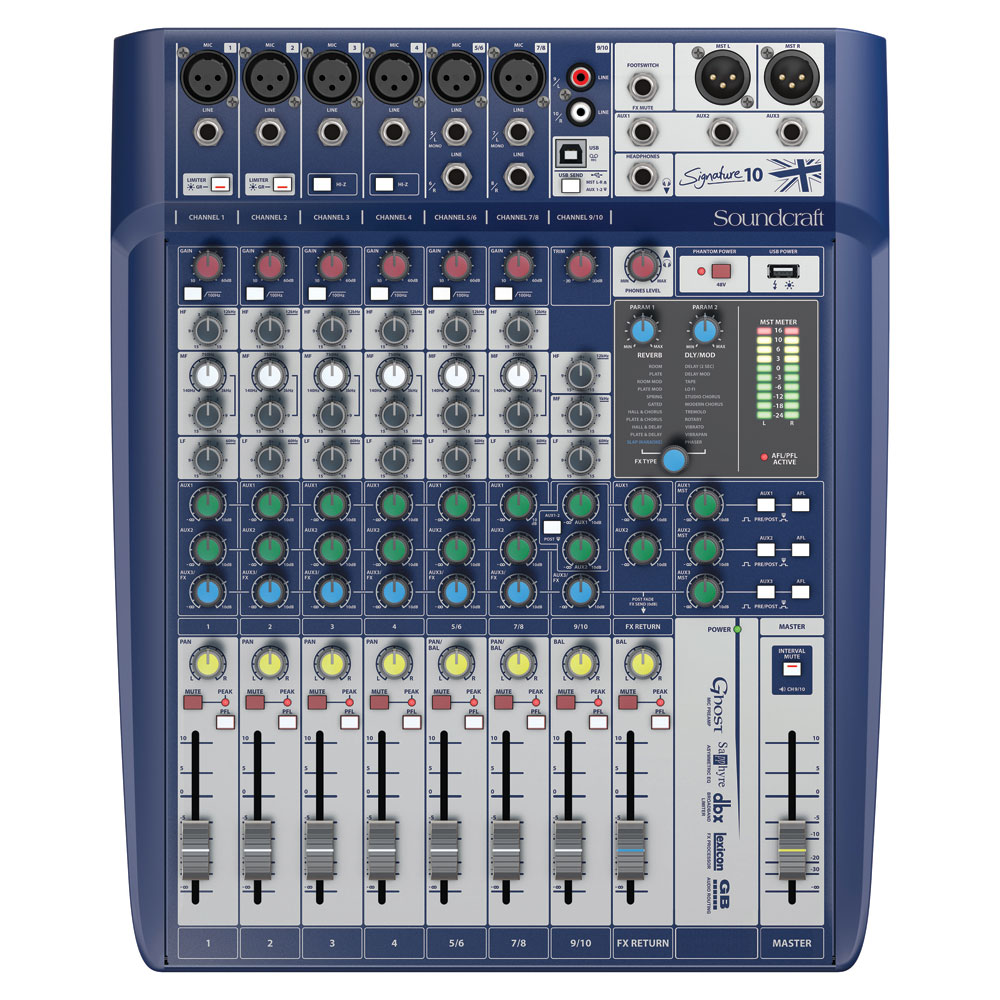 Soundcraft Signature 10 10ch 6マイクインプット アナログミキサー