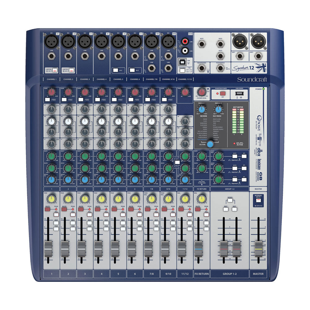 Soundcraft Signature 12 12ch 8マイクインプット アナログミキサー