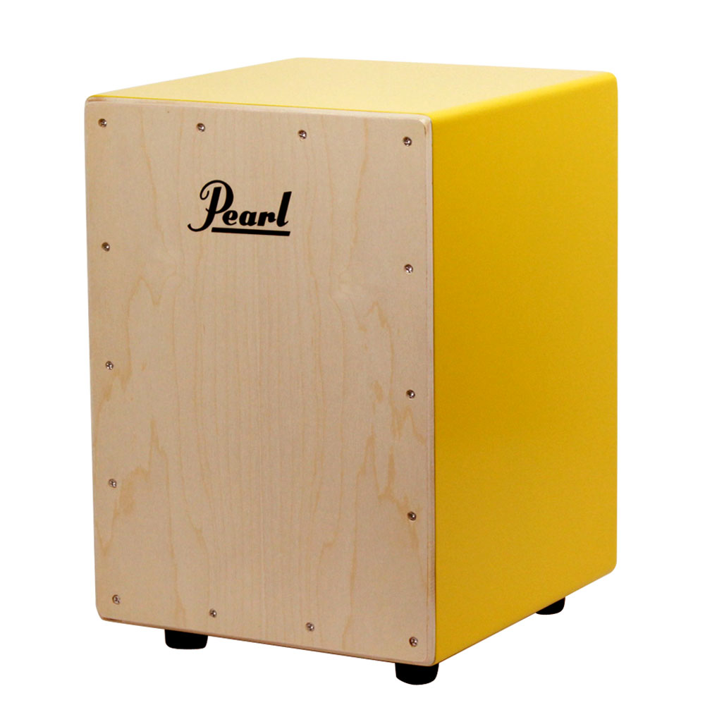 パール ポップなカラーのボックスカホン ジュニアサイズ お買得 新入荷 流行 Pearl PCJ-CVJ SC COLOR CAJON BOX ソフトケース付き ジュニアカホン YE