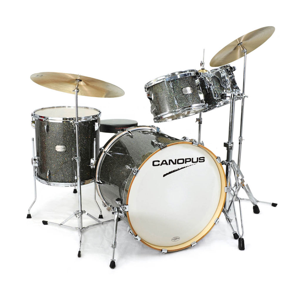 CANOPUS Yaiba II Groove Kit Yaiba Gray Sparkle LQ スネア付き ドラムセット