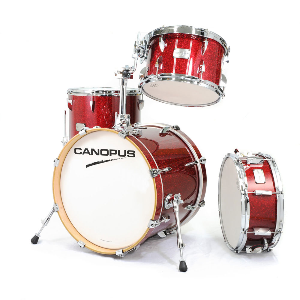 CANOPUS Yaiba II Bop Kit Dark Red Sparkle LQ スネア付き ドラムセット
