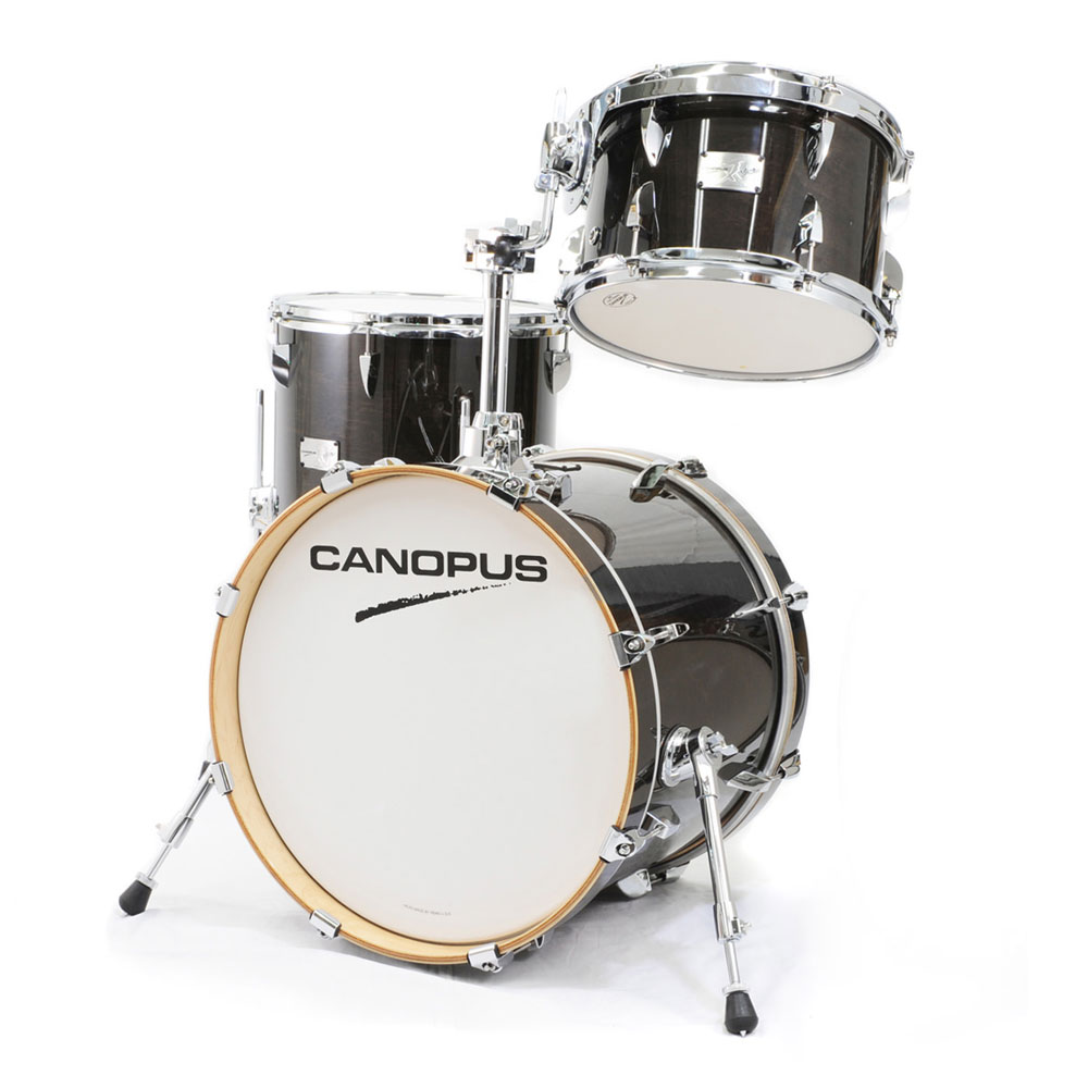CANOPUS Yaiba II Bop Kit Ebony LQ (See through Black) スネア付き ドラムセット