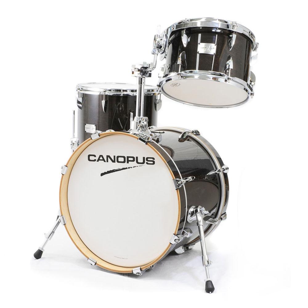 CANOPUS Yaiba II Bop Kit Ebony LQ (See through Black) スネア抜き ドラムセット