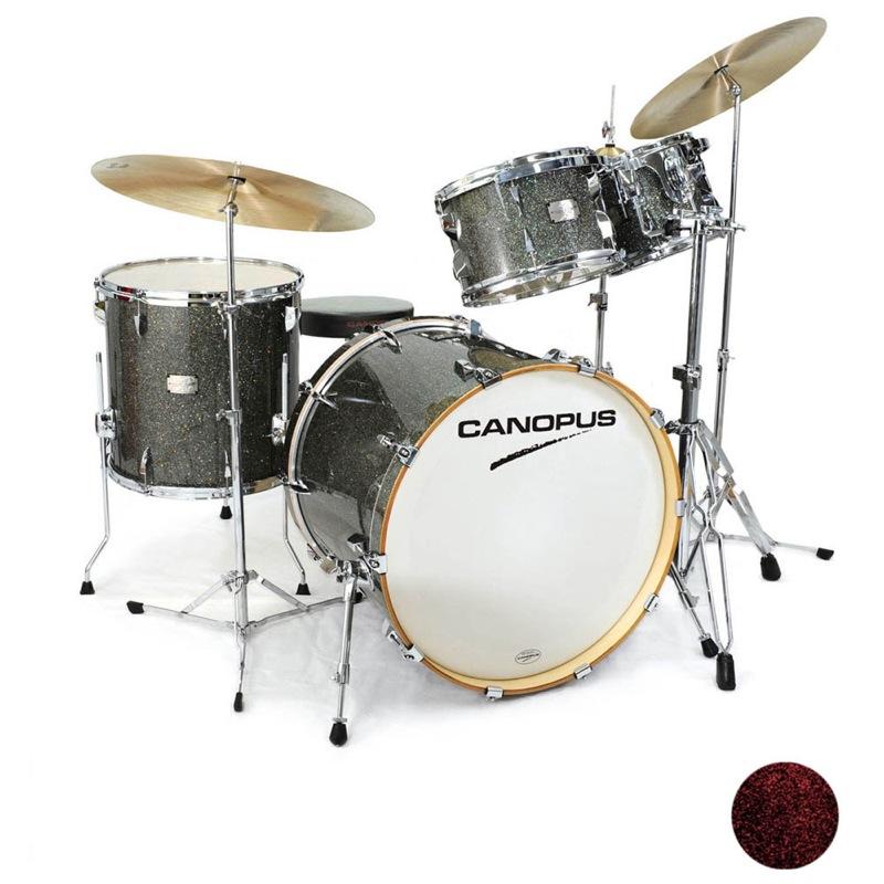 CANOPUS Yaiba II Groove Kit Dark Red Sparkle LQ スネア抜き ドラムセット