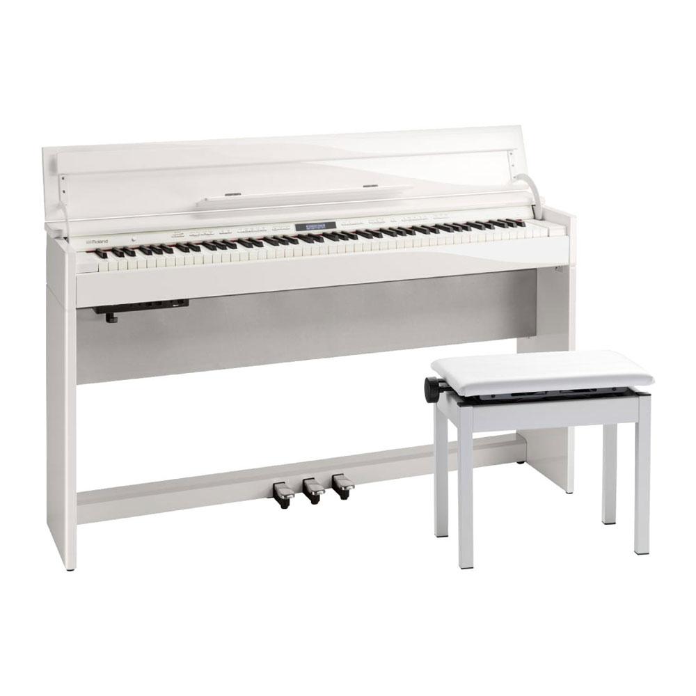 Roland DP603-PWS Digital Piano 白塗鏡面艶出し塗装仕上げ デジタルピアノ 専用高低自在椅子付き 【組立設置無料サービス中】