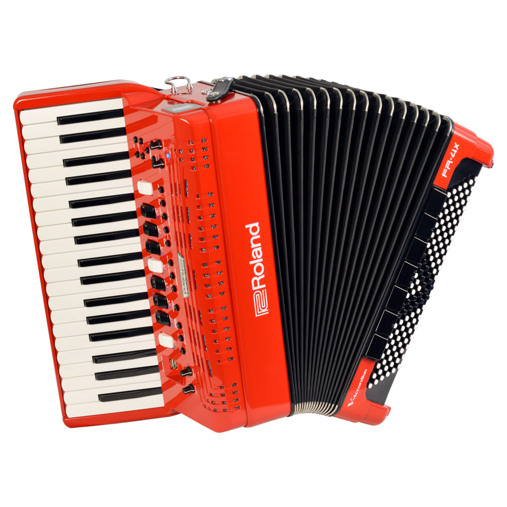 Roland FR-4X RD V-Accordion レッド デジタルアコーディオン ピアノ鍵盤タイプ