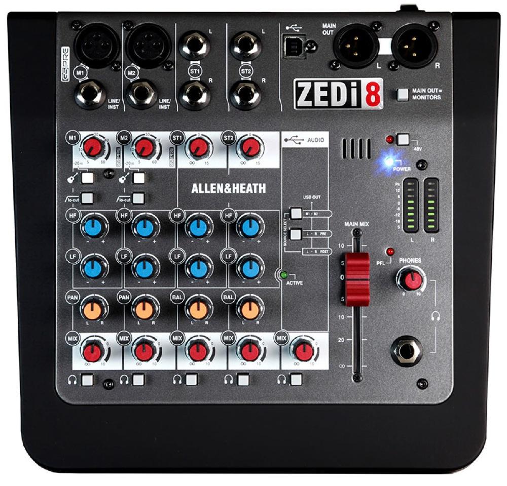 ALLEN&HEATH ZEDi-8 ハイブリットミキサー(ZEDi8/X)