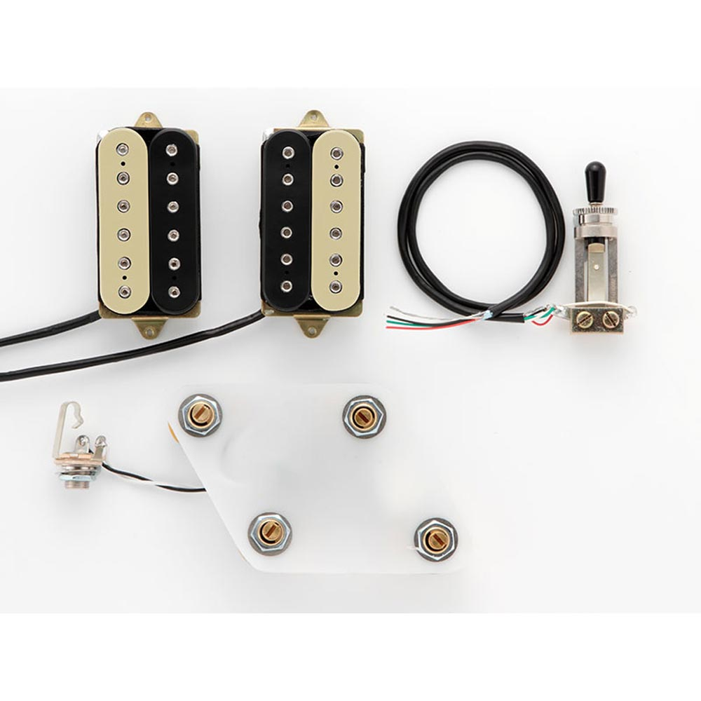 DiMarzio GG2101A3BC Pre-Wired Pickup Set for Les Paul Modern Metal Set Black/Cream プリワイアードピックアップ