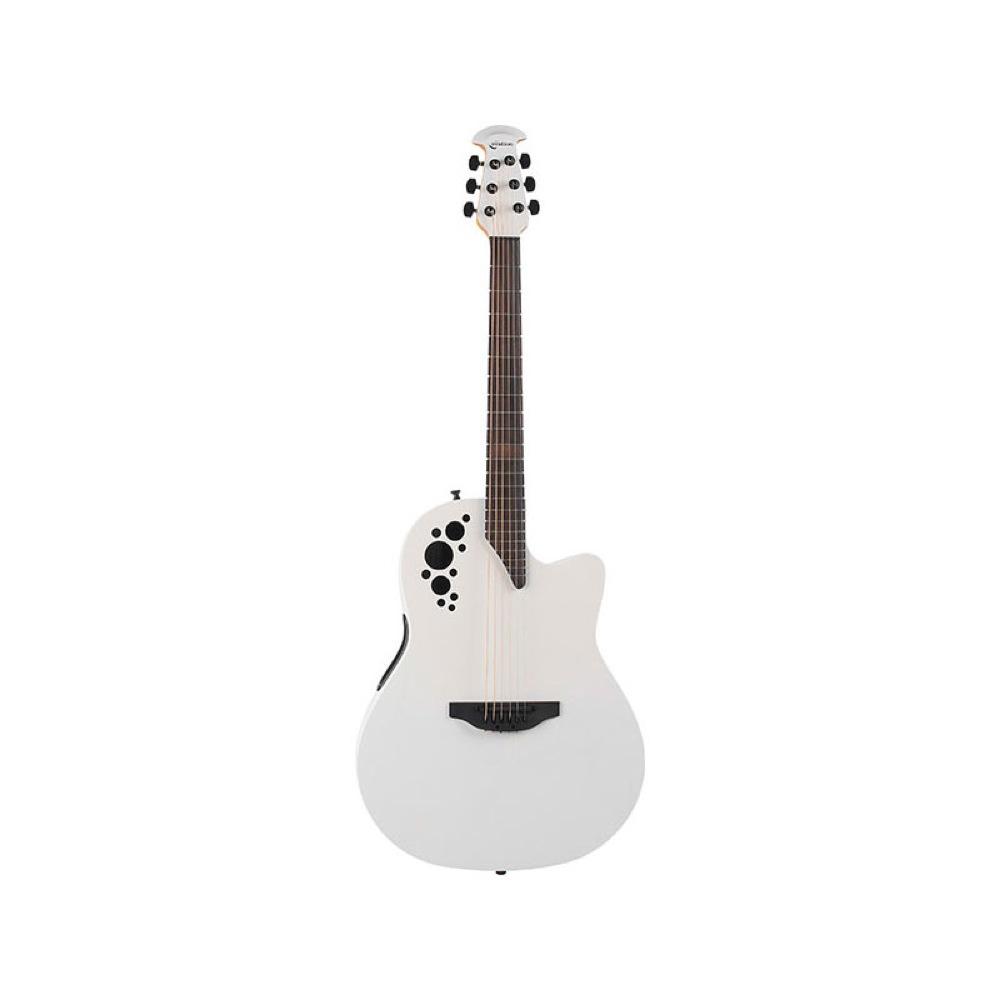 Ovation 1778TX-6S Elite TX Mid Depth Satin White エレクトリックアコースティックギター