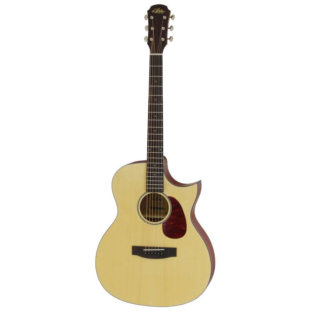 ARIA 101CE MTN Cutaway Electric リッターケース付き エレクトリックアコースティックギター