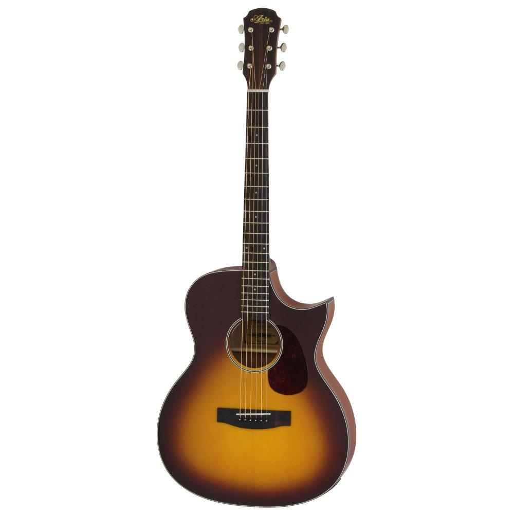 ARIA 101CE MTTS Cutaway Electric リッターケース付き エレクトリックアコースティックギター