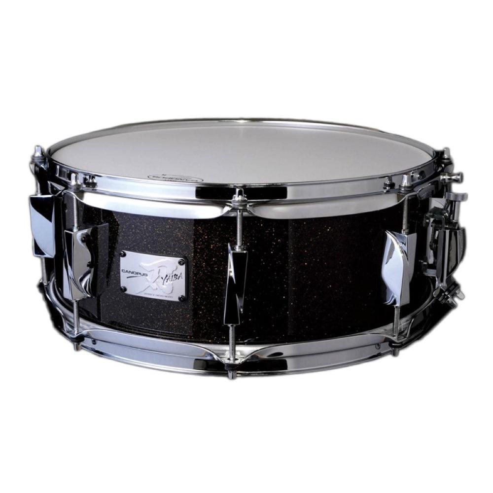 CANOPUS JSB-1455 刃 II Birch Snare Drum Ice Black Sparkle LQ メタルフープモデル スネアドラム