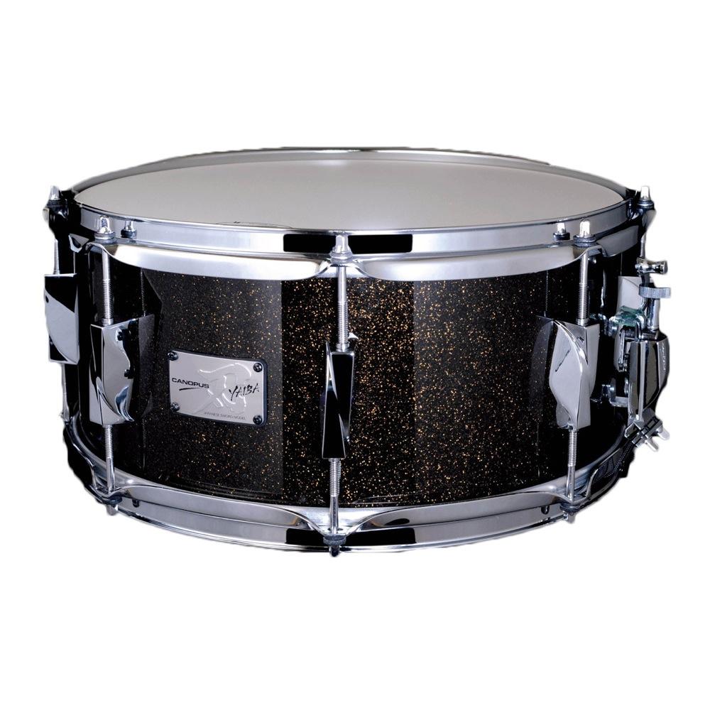 CANOPUS JSB-1465 刃 II Birch Snare Drum Ice Black Sparkle LQ スネアドラム