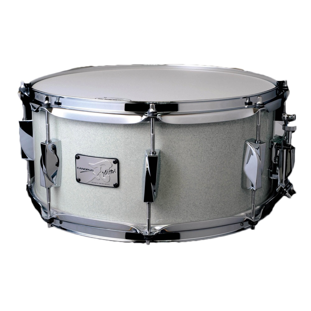 CANOPUS JSB-1465 刃 II Birch Snare Drum Ice White Sparkle LQ スネアドラム