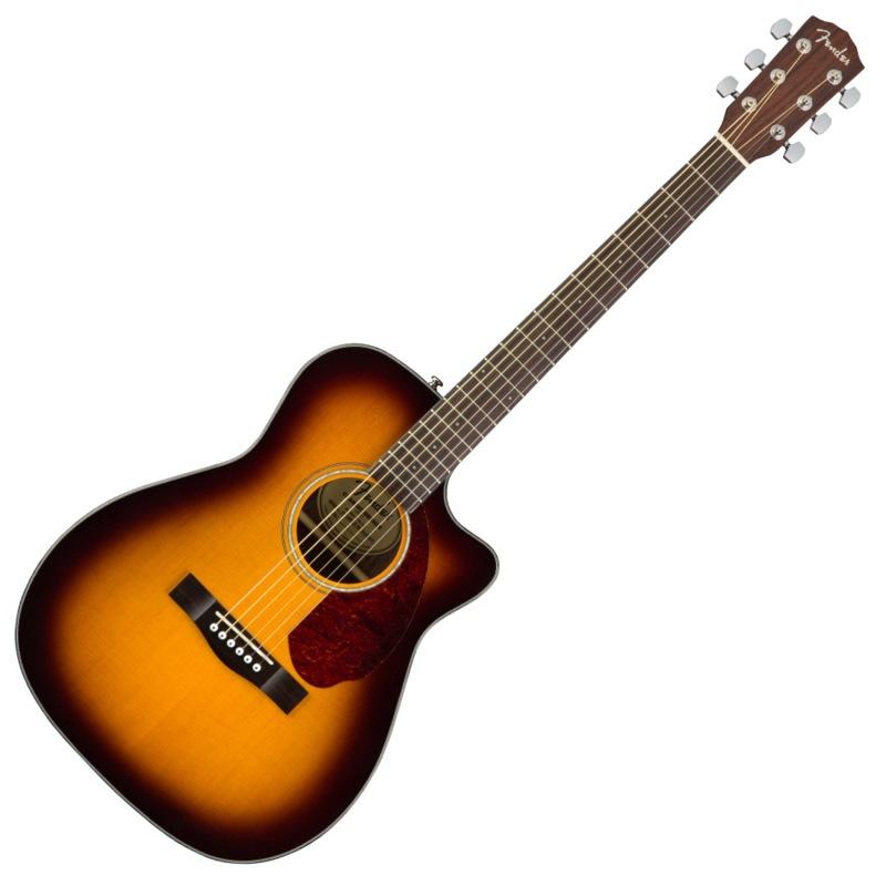 Fender CC-140SCE Sunburst エレクトリックアコースティックギター ハードケース付き