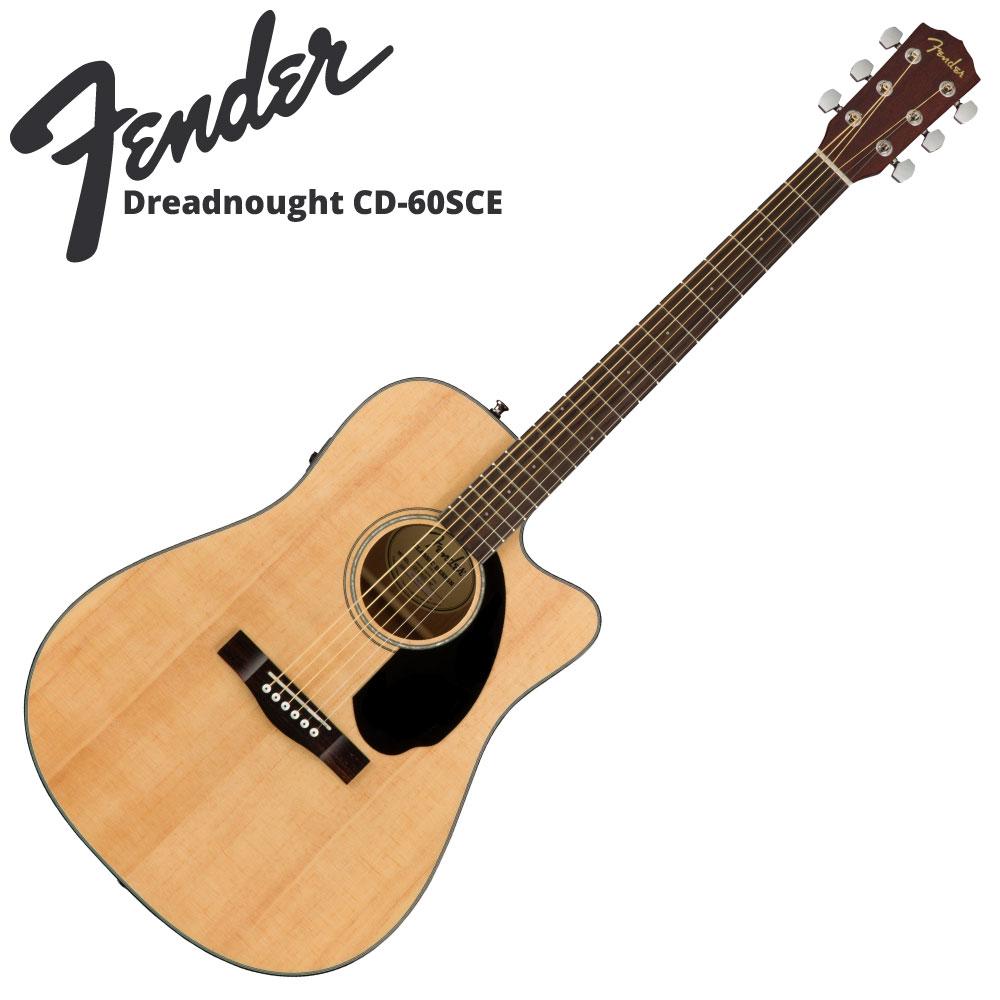 Fender CD-60SCE NAT エレクトリックアコースティックギター