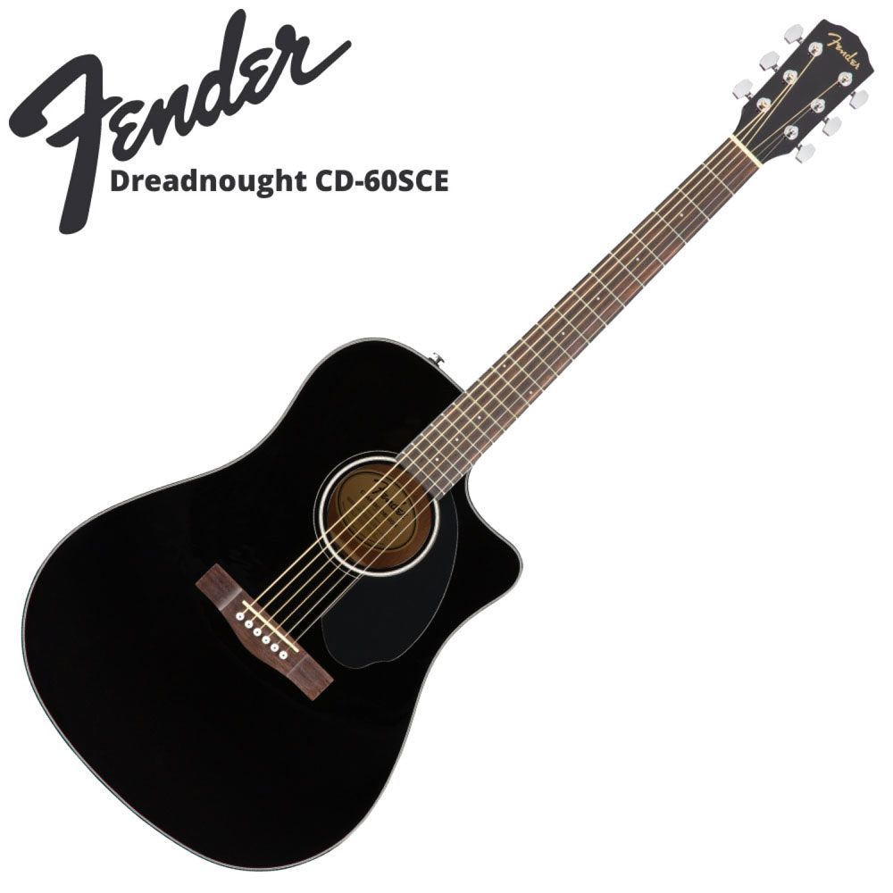 Fender CD-60SCE BLK エレクトリックアコースティックギター