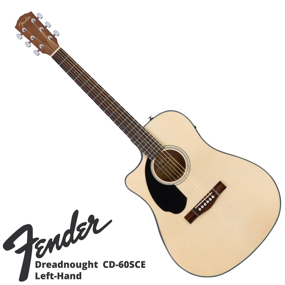 Fender CD-60SCE LH NAT エレクトリックアコースティックギター