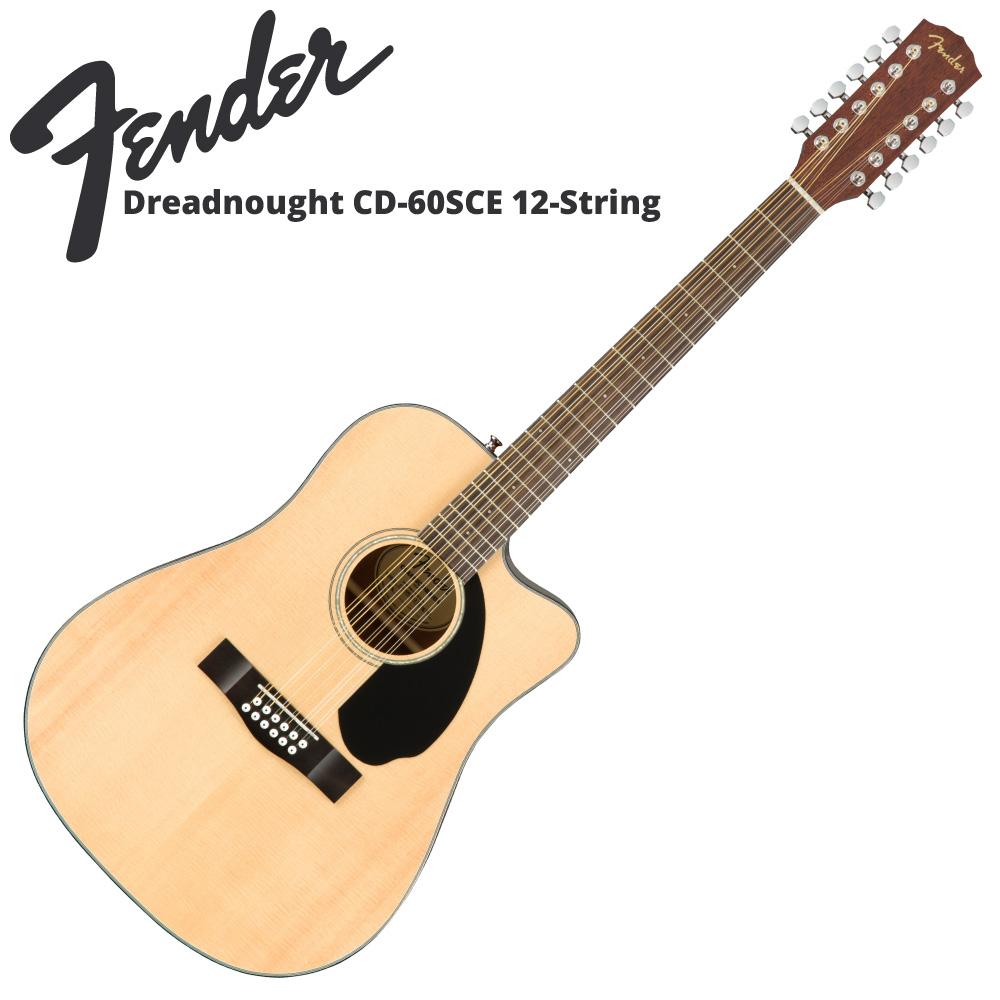 Fender CD-60SCE 12-String NAT 12弦エレクトリックアコースティックギター