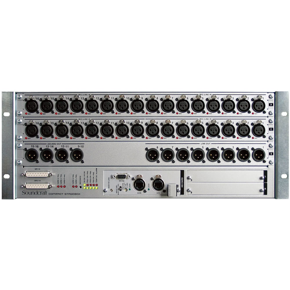 Soundcraft Compact Stage box 32/16 Cat5 コンパクトステージボックス