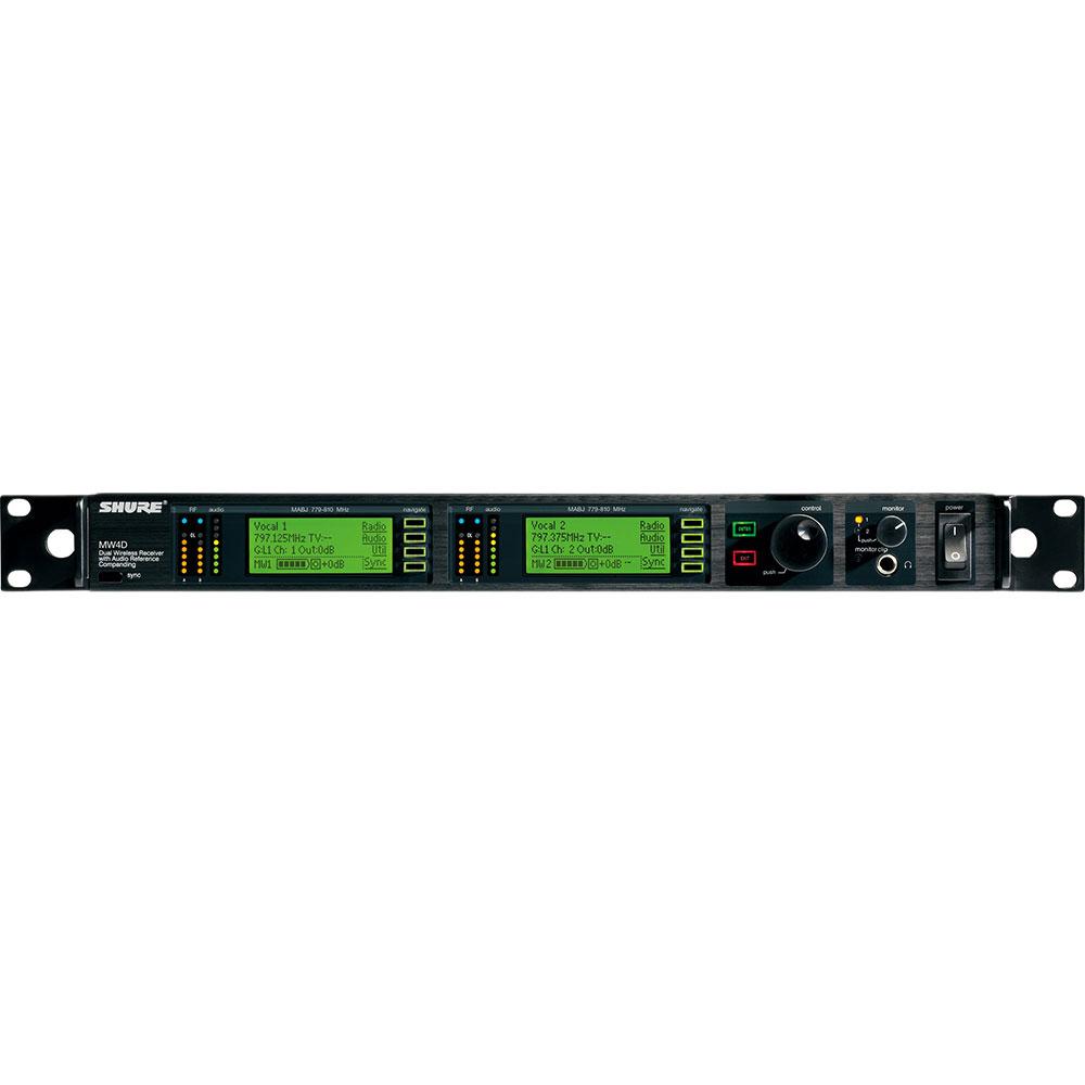 SHURE MW4D+-MABJ デュアルチャンネル・ダイバーシティ受信機