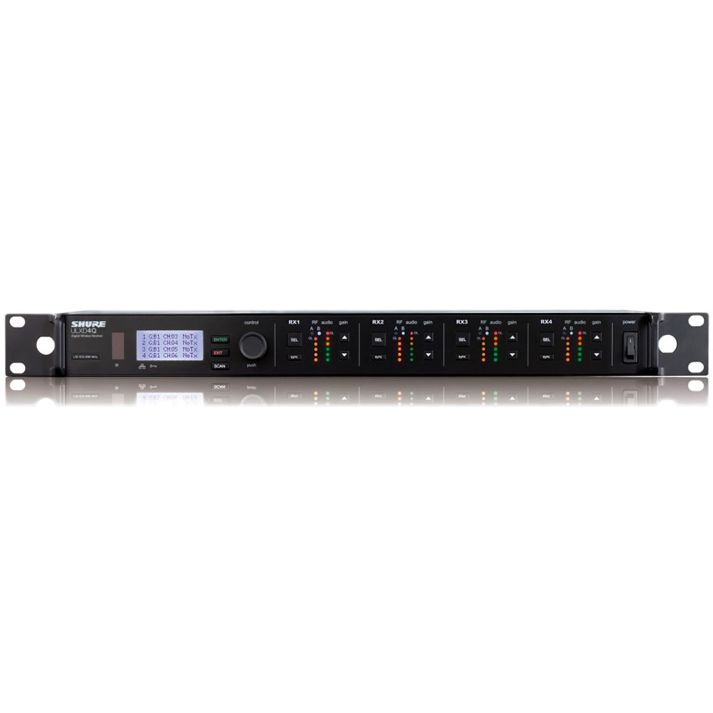 SHURE ULXD4Q-G50 ワイヤレス用ダイバーシティ4ch受信機
